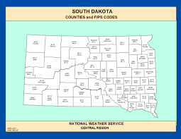 map of south dakota counties maps south dakota counties and fips codes
