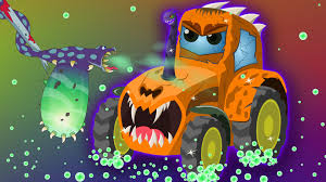 scary tractor car wash kids videos youtube