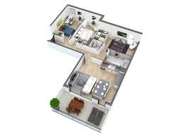3 bedroom flat plan on half plot modern style simple floor plans