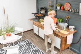 outdoor kuche holz haus design ideen