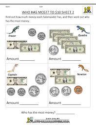 printable money worksheets 2nd grade worksheets