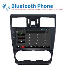 inch android 6 0 bluetooth radio for 2012 2013 2014 subaru