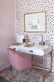 blogger office tour campaign desk wall stenciling and stenciling