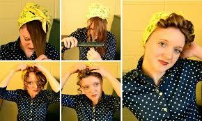 1940s bandana hairstyles working woman series 1940s scarf hair tutorials flashback summer