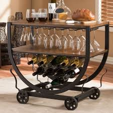 Industrial Kitchen Cart by Rustic Industrial Style Bar Cart Wine Rack Home Pub Wood Metal