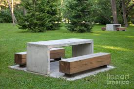 Park Benches Simple Park Benches And Tables Photograph By Jaak Nilson