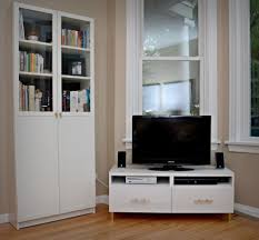Oak Bookcases With Doors by Furniture Minimalist White Living Room Decoration Using White