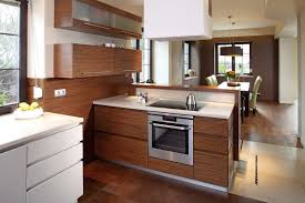 modern compact circled all in one kitchen design for space saving