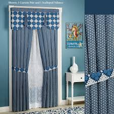 themed curtains touch of class santorini tailored curtain pair indigo 84 x 84
