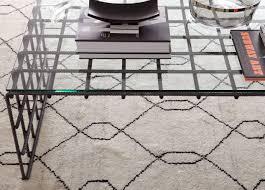 tulu trellis rug natural black geometric u0026 striped rugs