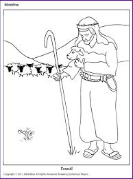 coloring parable lost sheep kids korner biblewise