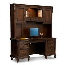 Morgan Computer Desk With Hutch Black Oak by Home Office Furniture American Signature American Signature