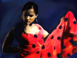 wallpaper dance the flamenco dancer girls pictorial art painting art