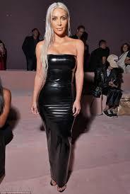 kim kardashian dons tight dress with at nyfw