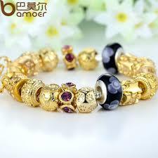 color charm bracelet images Bamoer gold color charm bracelet bangle for women with high jpg