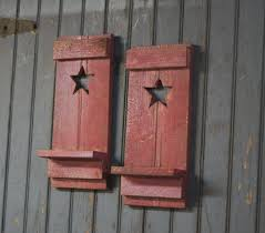 country star home decor new 3 rustic barn stars on spindles