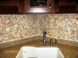Rock Backsplash Kitchen by Opulence Tile Backsplash With Granite Image Black And White