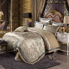 Gold Bedding Sets Luxury Cotton Silk Gold Bedding Sets Embroidered Jacquard