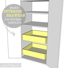 Pull Out Drawers In Kitchen Cabinets How To Add Interior Drawers To Kitchen Cabinets