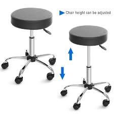 Office Bar Stool Chair Amazon Com Cnlinkco Round Height Adjustable Rolling Swivel Salon
