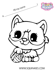 squinkies coloring page megs own pins pinterest free