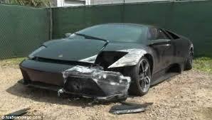 damaged lamborghini gallardo for sale crashes and abandons 220k lamborghini on the highway just