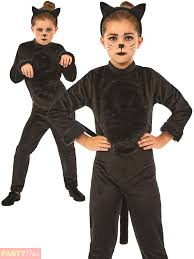 cat costume childs black cat costume animal fancy dress kids