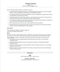 sample executive resume summary medical office manager samples