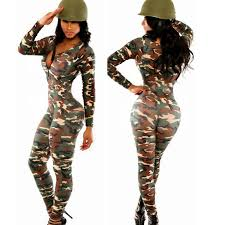 camouflage jumpsuit womens sleeve rompers womens jumpsuit camouflage suits for