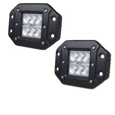 flush mount led lights 12v 18w flush mount led work light 12v 24v rear fog l 4x4 offroad
