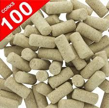 amazon com 100 blank wine bottle corks bulk new 9 agglomerated