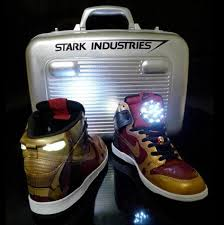 light up high tops nike nike iron man light up dunks mad geek love for custom superhero sneaks