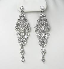 Bridal Chandelier Earrings Large Fan Drop Bridal Chandelier Earrings Bridal Chandelier
