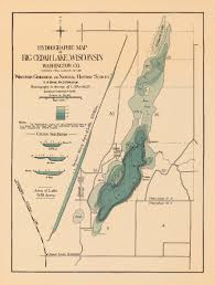 Wisconsin Maps by Map Of The Day July 31 Hydrographic Map Of Big Cedar Lake