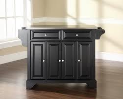 birch wood cordovan shaker door stainless steel top kitchen island