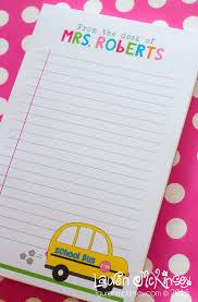 personalized teacher school bus notepad lauren mckinsey 04
