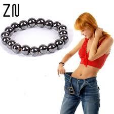 black magnetic bracelet images Biomagnetism magnetic round black stone magnetic bracelet jpg