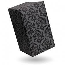 black gift wrap gift wrap damask black on grey