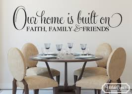 our home is built on faith family and friends wall art zoom