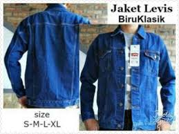 Baju Levis Biru jaket denim levis biru klasik baju pria belanja bebasbayar