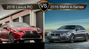 lexus rc competitors 2016 lexus rc vs bmw 4 series by the numbers youtube