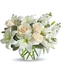 white floral arrangements white flower arrangements simple creme and white roses floral