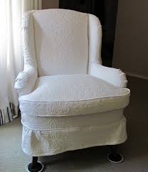 wingback chair slipcovers wing chair slipcover white home interior and exterior decoration