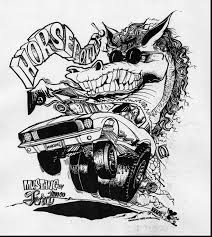 awesome rat fink rod coloring book pages with rod coloring