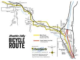 Wenatchee Washington Map by Route Maps Wenatchee Valley Scenic Bikeway