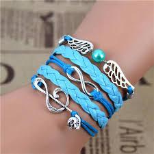 anchor braided bracelet images Infinity anchor hook artificial leather bracelet men women jpg
