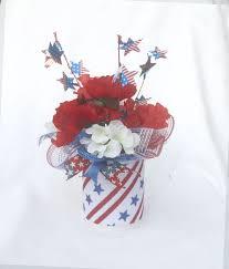 white and blue floral arrangements patriotic floral arrangement july 4th centerpiece summer