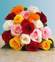 Multi Colored Roses Multi Colored Rose Wedding Bouqet The Wedding Specialiststhe