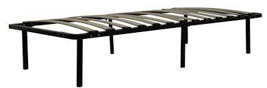 twin xl size metal platform bed frame with wood slats greenhome123
