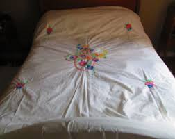 Summer Coverlet Embroidered Coverlet Etsy